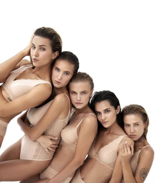 Our beauties Snizhana @snizhana_lebid Angie @anhelinasss_ Maria @maria__lebed for new @jasmine_lingerie campaign