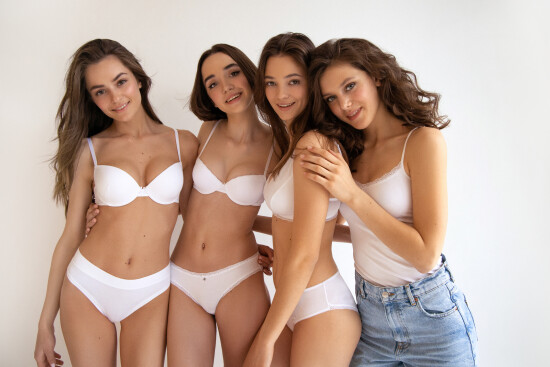 Our gorgeous girls Snizhana @snizhana_lebid Kate T @katrina_siuk Maria @mariahiliyk Nelia @neeliks for @jasmine_lingerie